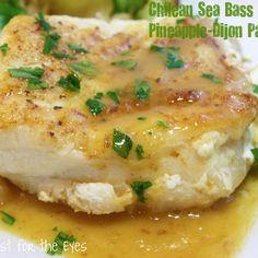 Chilean Sea Bass with a Pineapple-Dijon Pan Sauce