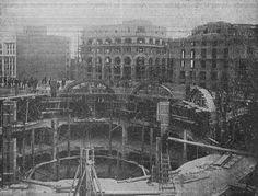 Construcción de los Almacenes Madrid Paris en la GranVia.