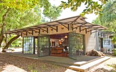 Painter and sculptor John Holmes and his wife Kathleen are the owners of this one-bedroom house in Penngrove, Calif., in Sonoma County. The couple purchased the 43-acre parcel in 1986 for $175,000, according to public records.