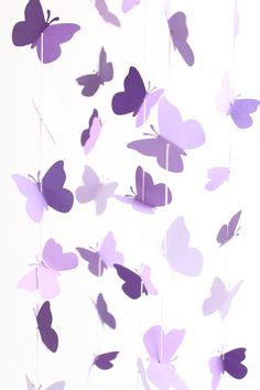 Purple Butterfly Mobile Baby Girl Nursery Crib by TheDreamBarn