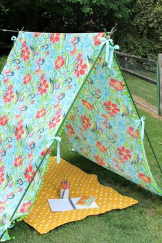 Enjoy a slice of shade in this easy-to-make backyard tent.