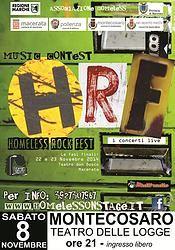 HOMELESS ROCK FEST - Una nuova sfida all'insegna del ROCK - Sabato 8 Novembre - Montecosaro - MC