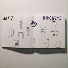 Day 7: pitchers #sketchbook #creativebug #lisacongdon