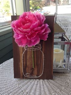Mason Jar Flower String Art