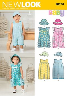 Another good romper pattern. Avoid the ruffles... boy version is better for girls too