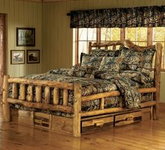 LOVE this bed and camo I want this to be my bedroom set someday :)