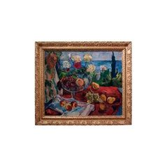 Framed Oil Painting of Still Life on Canvas   VandM.com ❤ liked on Polyvore featuring home, home decor, wall art, canvas wall art, canvas oil painting, canvas home decor, framed canvas wall art and framed oil painting