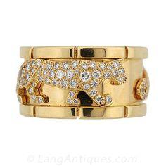 Cartier Diamond Panther Ring