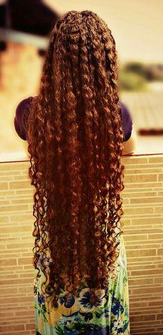 #HairLong Long Blonde Curls, Long Curly Hair, Really Long Hair, Super Long Hair, Natural Hair Styles, Short Hair Styles, Rapunzel Hair, Curled Hairstyles, Wedding Hairstyles