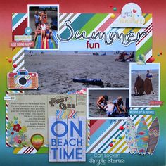 Summer Fun - Scrapbook.com - Use Simple Stories Good Day Sunshine for all your summer and beach memories.