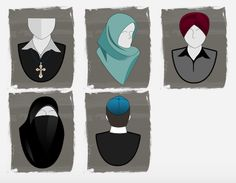 Quebec Values Charter: What Religious Symbols Would Be Unacceptable For Public Servants Religious Symbols, Teacher Blogs, Infographic, Religion, Public, Humor, Triomphe, Objects, Language