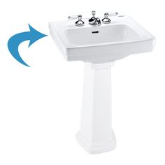 "Toto lpt532.8n Colonial White Promenade Pedestal Lavatory, Sink Only 8"" Centers 