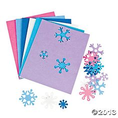 Fabulous Foam Self-Adhesive Snowflake Shapes