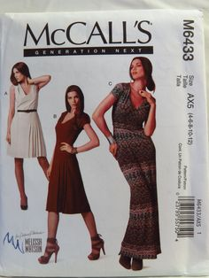 McCall's 6433 Dress in Three Lengths