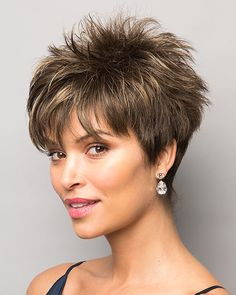 Today we have the most stylish 86 Cute Short Pixie Haircuts. We claim that you have never seen such elegant and eye-catching short hairstyles before. Pixie haircut, of course, offers a lot of options for the hair of the ladies'… Continue Reading → Short Hairstyles For Thick Hair, Short Hair Wigs, Short Pixie Haircuts, Short Hair With Layers, Wig Hairstyles, Curly Hair Styles, Spiky Short Hair, Short Length Hairstyles, Short Hair Cuts For Women Over 50
