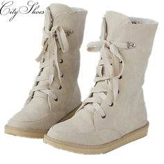 2015 new sexy nubuck women black beige red blue shoes plush mid-calf snow boots ladies fashion flat shoe winter woman boot flats