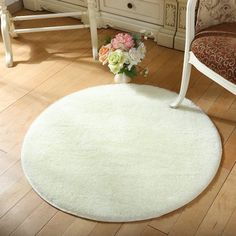 Free Shipping. Buy NK Home 16'' Round Circular Bedroom Fluffy Rugs Anti-Skid Shaggy Area Office Sitting Drawing Room Gateway Door Carpet at Walmart.com