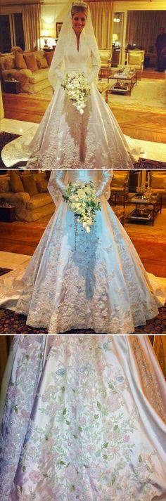 Lala Rudge em seu casamento em out de 2012 por lalarudge.com.br Obs de JuRicardo - essa menina é mesmo uma princesa. Linda!!!!