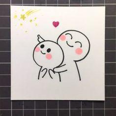 Cute Doodles Drawings, Cute Doodle Art, Doodle Art Designs, Cute Easy Drawings, Cute Little Drawings, Cool Art Drawings, Kawaii Drawings, Cute Art, Drawing Faces