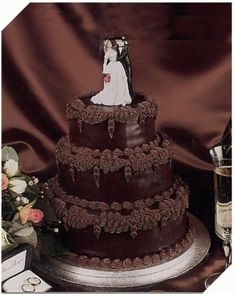 85 Best Chocolate Wedding Cake Images Chocolate Wedding Cakes Pie