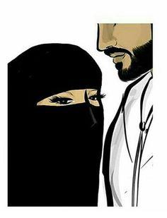 Image de islam, arabic, and art Cute Muslim Couples, Muslim Girls, Cute Couples, Muslim Couple Photography, Beautiful Girl Drawing, Disney Princess Quotes, Islamic Cartoon, Anime Muslim, Hijab Cartoon