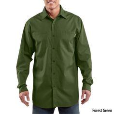 Josh!! Gander Mountain® > Carhartt Long Sleeve Lightweight Woven Shirt (Style #S267) - Apparel > Men's Casual Apparel > Shirts :