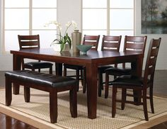 Bardstown Table with 4 side chairs and bench