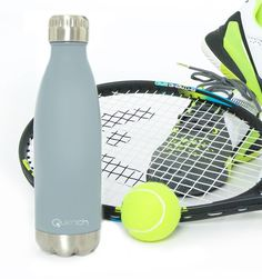 Quench Bottle Light Grey. Unbreakable double wall stainless steel insulated flask/bottle. Keeps any Beverage hot for 18 hours or cold for 24 hours.  Visit GoodiesHub for the full range of exciting vibrant colours.Goodieshub.com