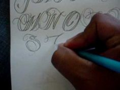 CALLIGRAPHY TUTORIAL LETTERS S,T,U,V,W