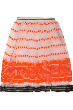 MarniSequence embroidered organza skirt