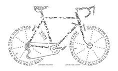 Bike typography print