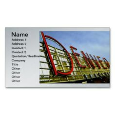 Denver Pavilion Business Cards printed on a silver colored background.  Other colors available.