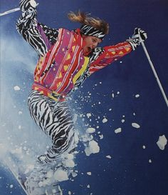 Obermeyer ad from the Ski Movies, Recruitment Themes, Apres Ski, Ski Ski, 80s Neon, Snow Much Fun, Vintage Sportswear, Ski Posters, Ski Gear