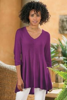 Perfect A Line Long Sleeve Top from Soft Surroundings