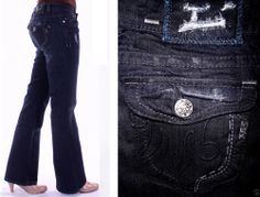 SPECIAL OFFER - SAVE UP TO 80% OFF ORIGINAL RETAIL* Need 2 raise funds for my dog Chloe (needs surgery) so please check out my other items also listed on my eBay with special pricing:)    Buckle Miss Me MEK Denim USA Munich Bootcut Flap Pkts Blue/Black 27 *LKNEW*
