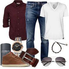 """Granet and jeans"" by marta-cercols on Polyvore"