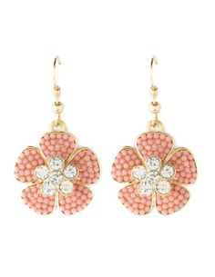 Seed Bead Flower Earrings: Charlotte Russe