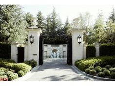 My favorite entry gate in Holmby Hills at Fleur de Lys, a home that is for sale for $125,000,000.