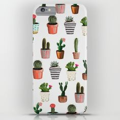 CACTI | Watercolor succulent cactus collection iPhone & iPod Case