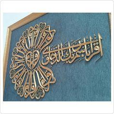 İkra anahtar Islamic Decor, Islamic Wall Art, Islamic Art Pattern, Pattern Art, Diy Wall Art, Framed Wall Art, String Crafts, Arabic Calligraphy Art, Islamic Images