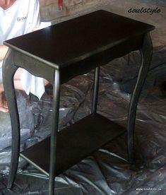 Aged Finish with Spray Paint Spray Paint Furniture, Furniture Makeover, Painted Furniture, Furniture Ideas, Bronze Spray Paint, Spray Painting, Decorating Blogs, Repurposed, Restoration