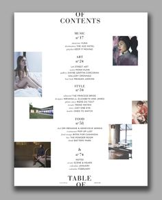 433 Best Table Of Contents Images In 2019 Layout Design Page