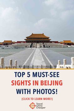 Forget about the Top 10 - you won't be able to make all those on your trip to China. Focus on the Top 5 must-see tourist destinations in Beijing, China. China Travel Guide, Asia Travel, Visit China, Work Travel, Cheap Travel, Where To Go, China China, Beijing China, Travel Destinations