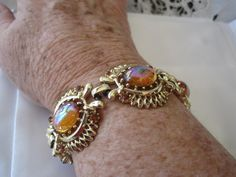 Coro Siam Dragons Breath Glass Bracelet by VintagObsessions, $35.00