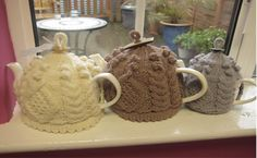 Ravelry: Little and Large Aran Tea Cosy pattern by Dathúil Designs