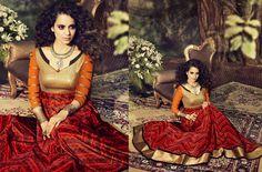 Kangana Ranaut Semi-stitched Designer Heavy Anarkali Suit (Catalog - 5195)