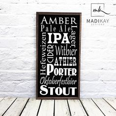 Man Cave Wood Sign, Best man Gift, Beer Gift Sign, Gift for Him, Wedding Gift, Groom Gift, Bar Sign on Wood or Canvas with Custom colors