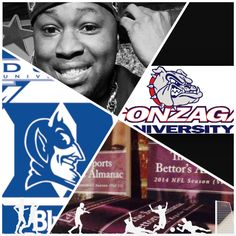 "3/29/15 NCAAB #MarchMadness : #Gonzaga #Bulldogs vs #Duke #BlueDevils (Take: Duke -2.5,Over 144.5) (THIS IS NOT A SPECIAL PICK ) ""The Sports Bettors Almanac"" SPORTS BETTING ADVICE  On  95% of regular season games ATS including Over/Under   1.) ""The Sports Bettors Almanac"" available at www.Amazon.com  2.) Check for updates   My Sports Betting System Is an Analytical Based Formula   ""The Ratio of Luck""  R-P+H ±Y(2)÷PF(1.618)×U(3.14) = Ratio Of Luck  Marlawn Heavenly VII ( SportyNerd@ymail.com…"