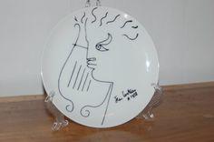 Jean Cocteau Orpheus Porcelain Collectors Limoges Plate