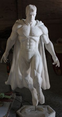 Awesome superman sculpture Different Forms Of Art, Different Art Styles, Superman Man Of Steel, Superman Wonder Woman, Comic Character, Character Design, Superman Family, Dc Comics Characters, Marvel Dc Comics